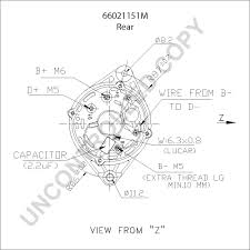 66021151m alternator product details prestolite leece neville gm cs130 alternator wiring diagram 66021151m rear dim drawing