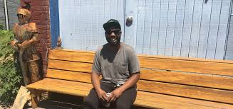 City Tours: Artist Sean Fahie Finds Camaraderie On Cabbagetown Bench   WABE  90.1 FM