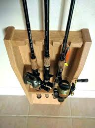 fishing pole rack rod wall mount holder piranha diy