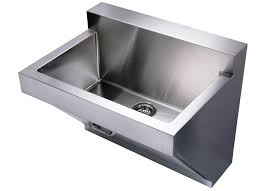 image of stainless steel laundry sink wall mount