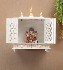 sheesham wood wall mounted mandir