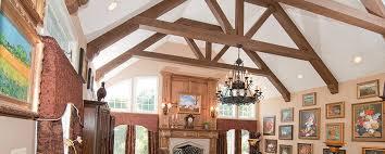faux wood trusses