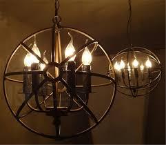 rustic orb chandelier llfa236 rh lighting restoration hardware vintage pendant lamp