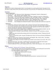 Quality Analyst Cv Qa Cv Example Under Fontanacountryinn Com