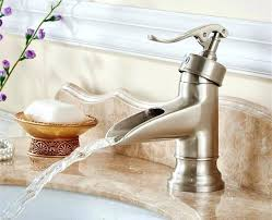 waterfall bathroom faucet brushed nickel orb bronze basin mixer tap in waterfall bathroom faucet brushed nickel