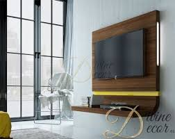 fenicia contemporary curved floating tv