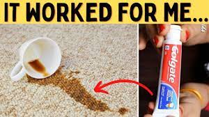 Soap, detergent, stain remover, or a combination of these. Remove Old Coffee Stains From Wool Carpet Using Vinegar Dish Soap And Toothpaste Youtube