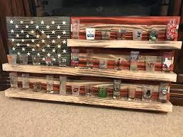 shot glass shelf flag shot glass holder will hold glasses circle cutouts are 1 5 so shot glass shelf shot glass holder shelf