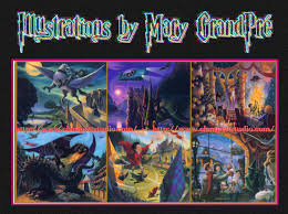 mary grandpré promo card for harry potter fine art prints clett studio