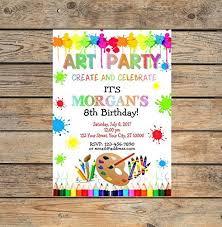 create party invitation amazon com art party invitations art birthday party invitation