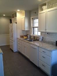 Kitchen Remodel W/ Stock Unfinished Home Depot Cabinets Painted White And  Stock Laminate Counter Tops