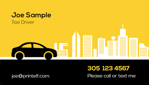 Free Personal Cards Personal Taxi Driver Business Cards Free Templates And