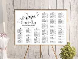 Seating Chart In Alphabetical Order Wedding Alphabetical Seating Chart Template Printable