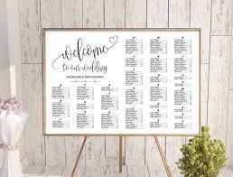 Wedding Seating Chart Wording Wedding Alphabetical Seating Chart Template Printable
