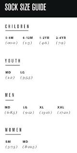Youth Sock Size Chart Adidas Girls Size Chart Bedowntowndaytona Com