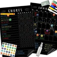 Magnetic Chalkboard Chore Chart Details About Magnetic Behavior Chalkboard Rewards Chore Chart Set Multiple Kid Chore Char