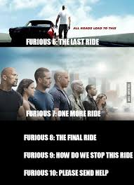 Titles of the upcoming Fast & Furious movies - 9GAG via Relatably.com