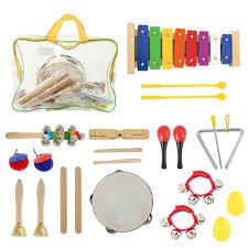 22PCS <b>Kids</b> Musical Instruments Set Rhythm & Music Educational ...