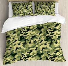 camouflage duvet cover set army clothing motif with pale color splashes abstract military patterned image bedding set bedding set king size duvet