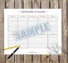 Simple Homework Organizer Printable Pdf Printable Homework Organizer Planning Template Weekly Homework Planner Instant Download