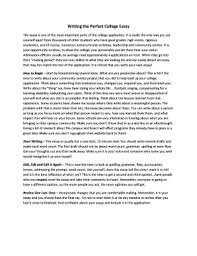 college application essay examples words edit print fill  writing the perfect college essay