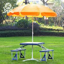 folding table with umbrella hole portable picnic plastic folding table with umbrella hole round folding table