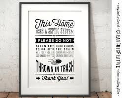 vintage wall art for kitchen kitchen sign septic system no garbage disposal kitchen wall art printable  on retro diner kitsch kitchen wall art with vintage wall art for kitchen cupcake art metal wall art vintage