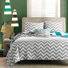 teal and black comforter sets | Striped Bed Decor Bedding Teal ... & teal and black comforter sets | Striped Bed Decor Bedding Teal White Gray 4  pc Full Adamdwight.com