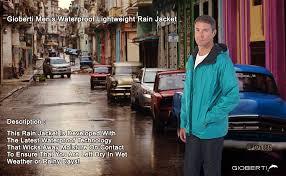 Gioberti Mens Waterproof Rain Jacket