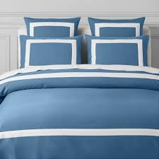 chambers border pique textured duvet cover shams