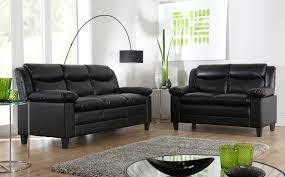 elegant black leather sofas metro small black leather sofa suite 32 seater only 49998