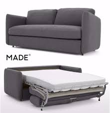 made fletcher 3 seater sofa bed with memory foam mattress marl grey excellent condition