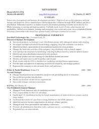 Medical Device Sales Representative Sample Resume Renting An Apartment Free Process Paper Samples And Examples 23