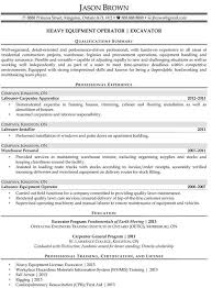 heavy equipment operator resume heavy equipment operator resume will give examination and techniques to develop sample resume heavy equipment operator