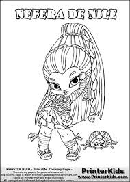 Small Picture Monster High Nefera De Nile Baby Chibi Cute Coloring Page
