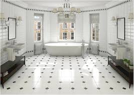 cool black and white tile patterns for bathroom le