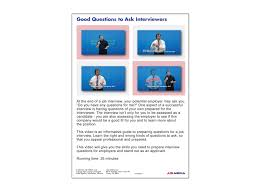 Job Success Good Questions To Ask Interviewers Dvd First