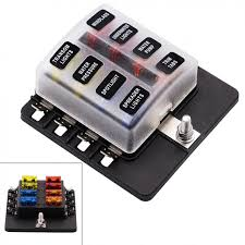 waterproof max 32v plastic cover 8 way blade fuse box holder m5 stud waterproof max 32v plastic cover 8 way blade fuse box holder m5 stud led indicator for car boat marine