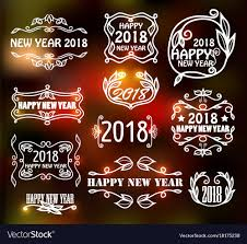 vine neon frames for happy new year vector image