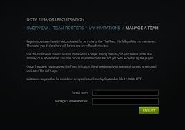 manila major team registration now open dota blast