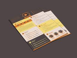 Flat Resume Template Design For Web Designer Developer Good Resume