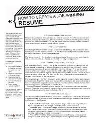 Example Resume A Winning Resume Example