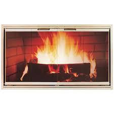 z door stock zero clearance fireplace door