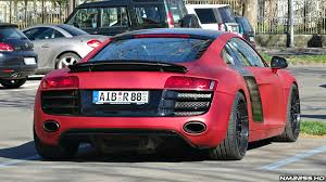 audi r8 matte black and red. insanely loud matte red audi r8 v8 start rev and accelerate youtube black t