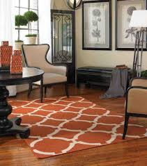Padded Benches Living Room Interior Curve Orange Modern Area Rugs For Living Room With Grey