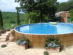 above ground pool designs placing flower boxes around your above ground pool walls is a good