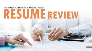 Resume Review Gorgeous US Army MWR Resume Review