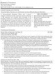 Chief Compliance Officer Resume Sample Resumes Related Free Resume ...