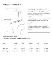 Dive Glove Size Chart Sizing Charts 911supply