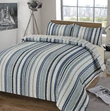 deakin stripe blue duvet set